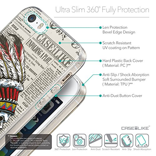 CASEiLIKE Art Mandala 2090 Housse Étui UltraSlim Bumper et Back for Apple iPhone SE +Protecteur d'écran+Stylets rétractables (couleur aléatoire) 2522