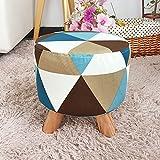 Low stool Sofa Hocker Niedriger Hocker - Tür Schuhbank - Kinderhocker - Stoff Hocker Kurze Bein - Stoff Home Hocker 4 Farben Optional (Farbe : C)