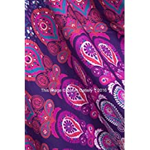 Tapestry regina verde Double Peacock Hippie Arazzo Mandala Bohemian psichedelico intricato indiano copriletto 233,7 x 208,3 cm Aakriti Gallery (Purple) - American Flag Tapestry