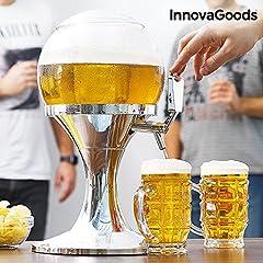 Idea Regalo - Il nuovo Cooling Beer Dispenser! L'originale spillatore da tavolo di birra fresca alla spina da 3,5 litri - senza BPA - distributore erogatore refrigerato da casa a forma di pallone con vaschetta scompartimento per il ghiaccio per bibite, vino e bevande fresche ghiacciate giraffa tavola per le feste del chill beer drink baloon balloon refrigerante ball torre gigante bolla caraffa - 00594
