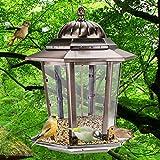 MD jardín comedero colgante para pájaros con–Figura decorativa de metal bronce diseño de apariencia