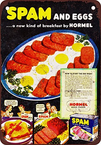 hormel-spam-et-ufs-look-vintage-reproduction-plaque-en-mtal-203x-305cm