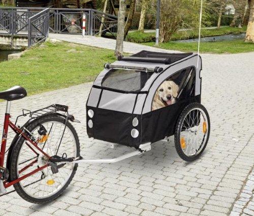 Karlie Fahrradanhänger Doggy Liner 1, 158 x 80 x 86 cm, schwarz/grau