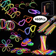 09e9e0c6da64 Josechan Pulseras Luminosas 200pcs de Fiesta 20cm 7 Colores con Conectores  para Hacer Glow Sticks Pulseras
