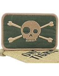 "Parche de Velcro OneTigris Táctica Militar de la moral Patch sobre Calavera ""Skull-Green"""