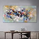 Coloré Splash Toile Tableau Peinture à L'Huile Kandinsky Abstrait Murale Art Graffiti Art Affiches Moderne Salon Decoration à