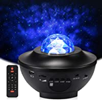 Delicacy LED Star Light Projector, Rotating Ocean Wave Night Lights, Nebula Projector Lamp, Colour Changing Music Player with Bluetooth & Timer & Remote Control, for Kids Adults Room Home Decoration
