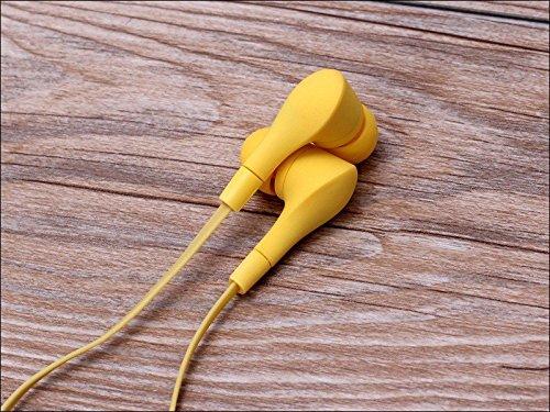 Écouteurs intra-auriculaires antibruit jaune sport casque écouteurs Mains libres écouteurs intra-auriculaires 3,5mm W/appel mains libres Mic. Compatible avec