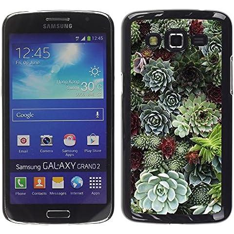 WonderWall Carta Da Parati Immagine Custodia Rigida Protezione Cover Case Per Samsung Galaxy Grand 2 SM-G7102 SM-G7105 - cono albero foresta verde