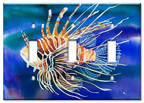 Art Plates Schalter/Wandplatte, Clownfisch Triple Toggle -