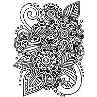 Darice 1218-28 - Carpetas de estampación, plantilla henna, 10,8 x 14,6 cm, color transparente