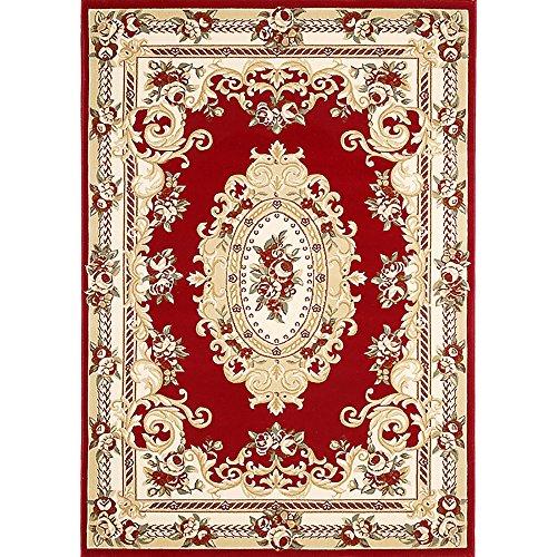 Bidesen Maison Déco Tapis Tapis Motifs Exquis de Style européen Rouge (Taille : 0.8m*1.5m)