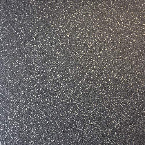 PVC-Boden in Granit-Optik Dunkel mit Schaumrücken | Vinylboden 2m Breite & 5m Länge | Fußbodenheizung geeignet | PVC Platten strapazierfähig & pflegeleicht | robuster, rutschhemmender Fußboden-Belag