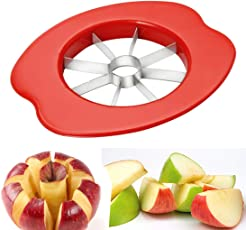 NEXZEN Delux Apple Cutter Stainless Steel - Colour May Vary (Red/Pink / Green)