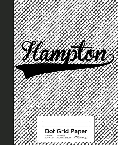 Dot Grid Paper: HAMPTON Notebook (Weezag Dot Grid Paper Notebook, Band 2979) -