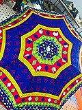Akshar Garden Umbrella(48 inch) 8 fit Designer Ideal for Beach,Lawn,Marketing,Sun Protection, Water Poof