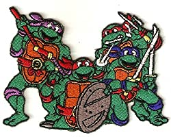TEENAGE MUTANT NINJA TURTLES Characters Pose 4 Wide Embroidered PATCH