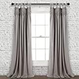 "Best Lush Decor Home Fashion Kids - Lush Decor Window Curtain Panel Pair, Gray, 84"" Review"
