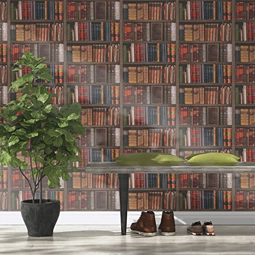 Rasch Bibliothek Bücher Tapete–934809 - 2