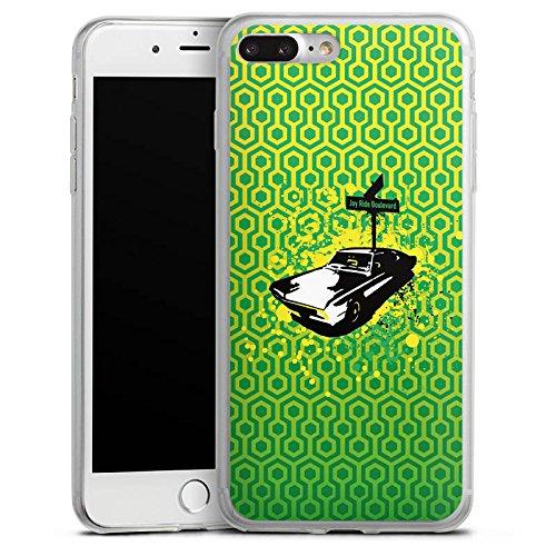 Apple iPhone 8 Slim Case Silikon Hülle Schutzhülle Fahrzeug Oldtimer Retro Silikon Slim Case transparent