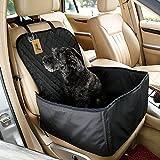 iZiv 2 en 1 Hund Sitzbezug, Wasserdichte Anti-Rutsch Haustier-Autositzabdeckung Hunde mit einstellbarem Haustier Auto-Sicherheitsgurt und Tragetasche (45cm X 45cm X 58cm)
