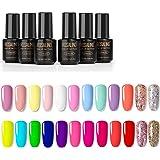 Smalto Semipermanente -ROSALIND 24 Colori Set Semipermanenti Per Unghie Soak off UV Gel Ricostruzione Combinazioni di Colori