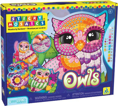 The Orb Factory Sticky Mosaics Owls Craft Kit