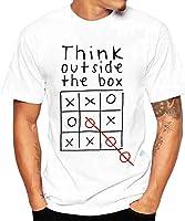 Challeng Herren T-Shirt Slim-Fit, Männer Druck Tees Shirt Kurzarm T Shirt Bluse,Tshirt Herren Weiss Oversize,Polo Hemd...