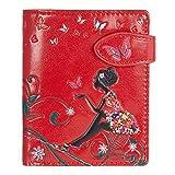 Shagwear Junge-Damen Geldbörse, Small Purse Designs: (Schmetterling Oase Rot/Butterfly Oasis)