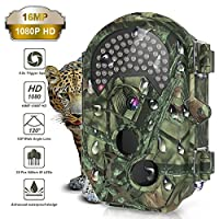 THZY Trail Camera, Waterproof 16MP 1080P HD Game Hunting Camera with Sound 120° Wide Angle Lens 38 Pcs 940nm IR LEDs No Glow Black Infrared Night Version 0.5s Trigger Speed up to 20M/65FT