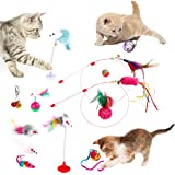 REHTRAD Pack of 13 Cat Toys for Kittens,Plush Mouse Spring Mouse Colored Ball Toys for Cat (Random Color)