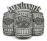 Jack Daniels Gürtelschnalle - Old Nr. 7 Brand - 3 Fässer 3D Design - Offiziell Lizenziertes Markenprodukt