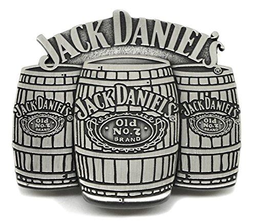Jack Daniels Gürtelschnalle - Old Nr. 7 Brand - 3 Fässer 3D Design - Offiziell Lizenziertes Markenprodukt -