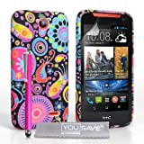 Yousave Accessories HTC Desire 310 Hülle Mehrfarbig