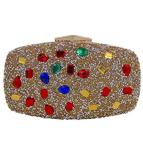 Frauen-Luxuxdiamant-Abendbeutelart Und Weisekristallhandbeutel A