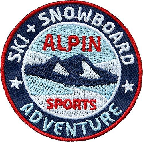 Club of Heroes 2 x Stick Abzeichen/Ski + Snowboard Alpin Winter Sport/Applikation, Aufnäher, Aufbügler, Aufkleber, Bügelbild, Patch für Kleidung, Rucksäcke, Taschen/rund -