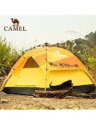 engranaje al aire libre Camel tienda de campaña al aire libre de la persona 3-4 temporadas traje de lluvia doble sombra abierta velocidades automática tienda de campaña
