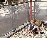 LOHUA Balkon-Netz,Kindersicherheits-Schienen-Netz, Haustier-Sicherheits-Masche, Für Balkon-/Treppenhaus-, Innen- U. Im Freiengebrauch