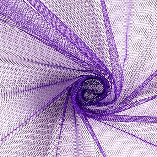 Fabulous Fabrics Tüllstoff - Lila – Leichter, elastischer Tüll zum Nähen von Röcken, Kleidern und Deko Wie Säckchen, Läufer und Tischröcke - Meterware ab 0,5m
