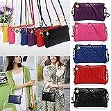 Gemini_mall® Fashion Women Shoulder Bag Tote Messenger Mini PU Leather Crossbody Satchel Handbag (White)