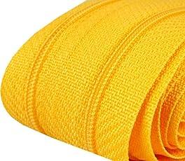 5 m Reißverschluss endlos, 24 mm breit, inklusive 10 Nonlock-Zipper, Auswahl aus 40 Farben