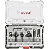 Bosch Professional 6 st. kant- och kantfrässsset (för trä, tillbehör för överfräsar med 8 mm skaft)