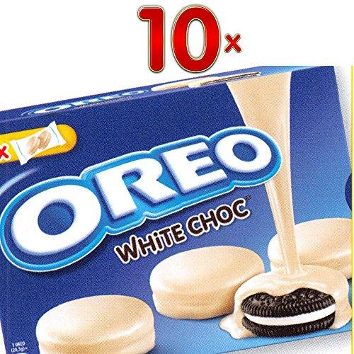 Oreo Cookie White Choc 10 x 246g Packung (Oreo-Keks umhüllt mit weißer Schokolade) (Oreo-schokolade)