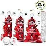 BIO Teekapseln von My-TeaCup | Kompatibel mit Dolce Gusto®*-Maschinen | 100% kompostierbare Kapseln ohne Alu (Früchtetee Very Berry, 48 Kapseln)