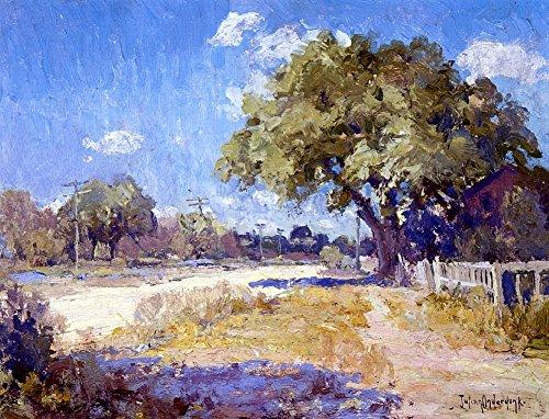 Das Museum Outlet-Texas Landschaft, gespannte Leinwand Galerie verpackt. 29,7x 41,9cm