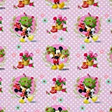 Fabulous Fabrics Disney Jersey Mickey Mouse Frühlingsgruß — Meterware ab 0,5m — zum Nähen von Kleidern, Tops und Shirts und Kinderbekleidung