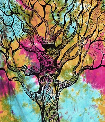 Handicrunch Tree of Life Tapestries , Hippie Tapestries , Bohemian Boho Tapestry , Dorm Tapestry ,Wall Tapestries, Tapestry Wall Hanging