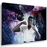 Julia-art Leinwandbilder - Muhammad Ali Boxer aller Zeiten Bild 1 teilig - 80 mal 60 cm Leinwand auf Rahmen - sofort aufhängbar ! Wandbild XXL - Kunstdrucke QN.48-4