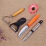 XJoel Classic Schälmesser Haushalt Gemüse Früchte Schälmaschinen Edelstahl Geschälte Messer Küche Werkzeuge Küche Gadget Packung von 4