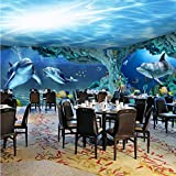 HUANGYAHUI Wandbilder 3D Wandbilder Tapeten Unterwasserwelt Meeresfische Kinder Schlafzimmer Wohnzimmer Tv Hintergrundbild